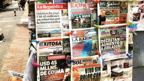 Competition for readers among Peru's tabloids leads to more fake news