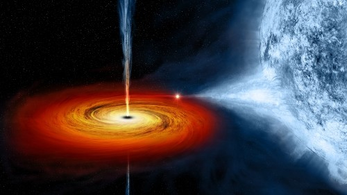 A high-powered telescope peers into the dark heart of a black hole