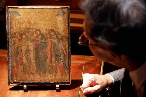 Long-lost rare 13th century painting discovered in French woman's kitchen
