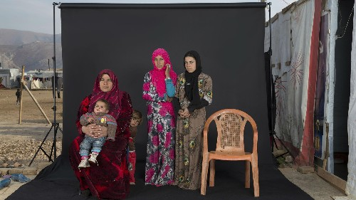 These striking family portraits show the lost members of Syrian refugee families
