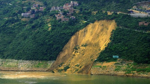 The world's biggest hydropower project may be causing giant landslides in China