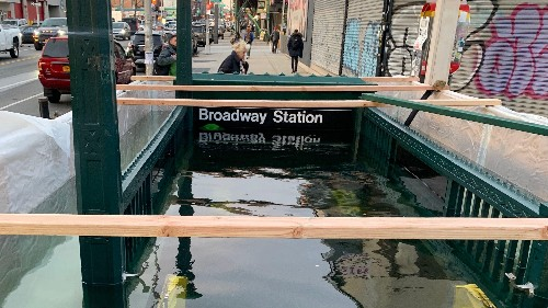 NYC is flooding subway entrances to prepare for climate change