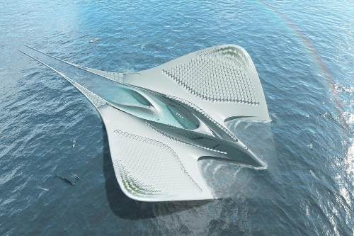 A French architect has a vision for a sustainable floating city that looks like a manta ray