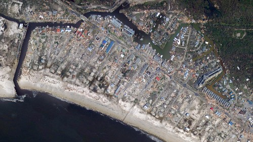 Florida's catastrophic damage from Hurricane Michael, as seen from above