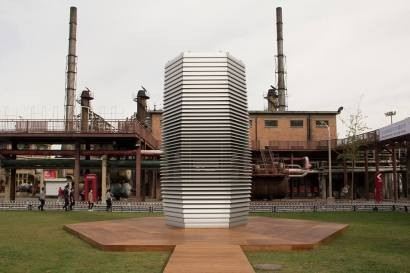 Smog Free Tower, an air purifier the size of a building, is sucking up China's pollution and turning it into jewelry