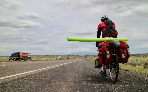 The best cycling hack is a pool noodle