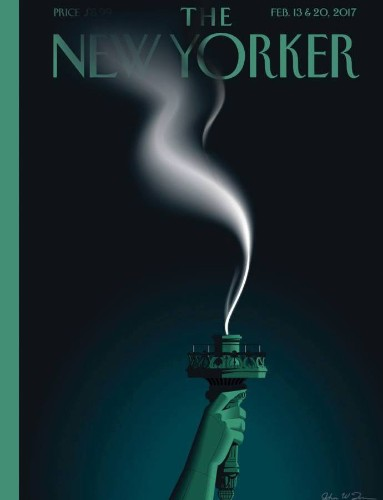Magazine covers about Donald Trump are getting dark: Businessweek, The New Yorker, The Economist, Der Spiegel, Time, Mother Jones, The Atlantic