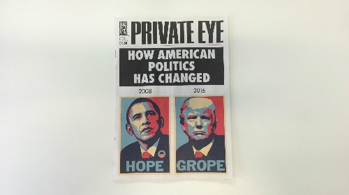 A British satirical magazine has perfectly captured the difference between the 2008 and 2016 US elections