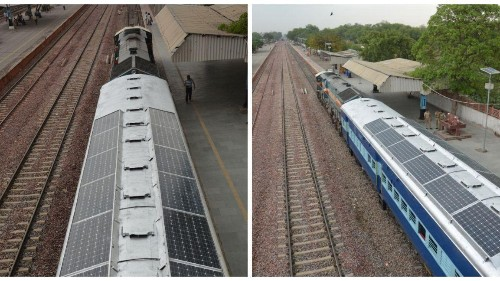 India's diesel-guzzling railways are testing coaches with solar panels
