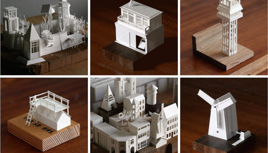 This artist built a tiny city out of 365 paper models, created everyday for a year