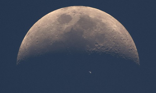 The ISS and the moon: A perfectly-timed photo of the moon puts humanity's achievements in perspective