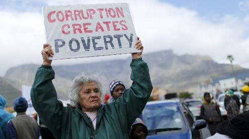 Corruption is on the rise, most South Africans and Nigerians believe