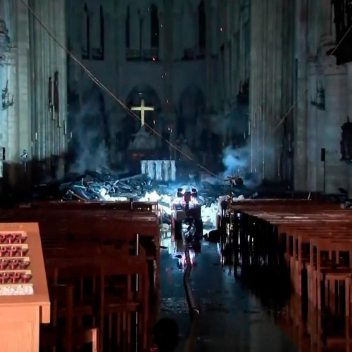 Pictures from inside Notre Dame after the fire