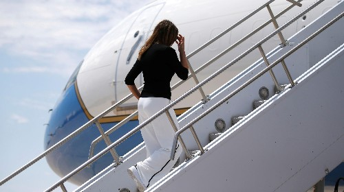 As Trump grounds Pelosi's troop visit, FLOTUS boarded a $35,000 military flight to Florida