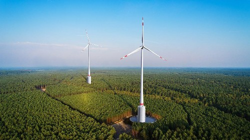 Germany is building the world's first wind turbines with built-in hydroelectric batteries