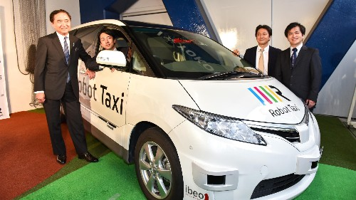 """Japan is building a """"Robot Taxi"""" service, with thousands planned for the 2020 Olympics"""