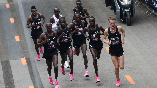 Breaking marathon barrier required 43 world-class runners