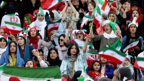 Iran lifting its ban on women in soccer stadiums is not a win