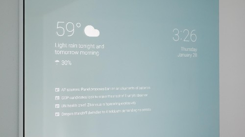 A Google engineer invented a smart mirror that tells you the news while you admire your looks