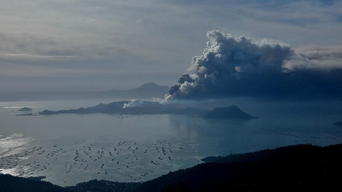 Philippines Volcano Taal spewed ash, prompting evacuations and airport closure