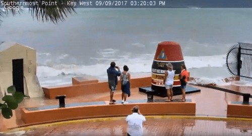 Watch people take selfies as they're engulfed by Hurricane Irma in Key West