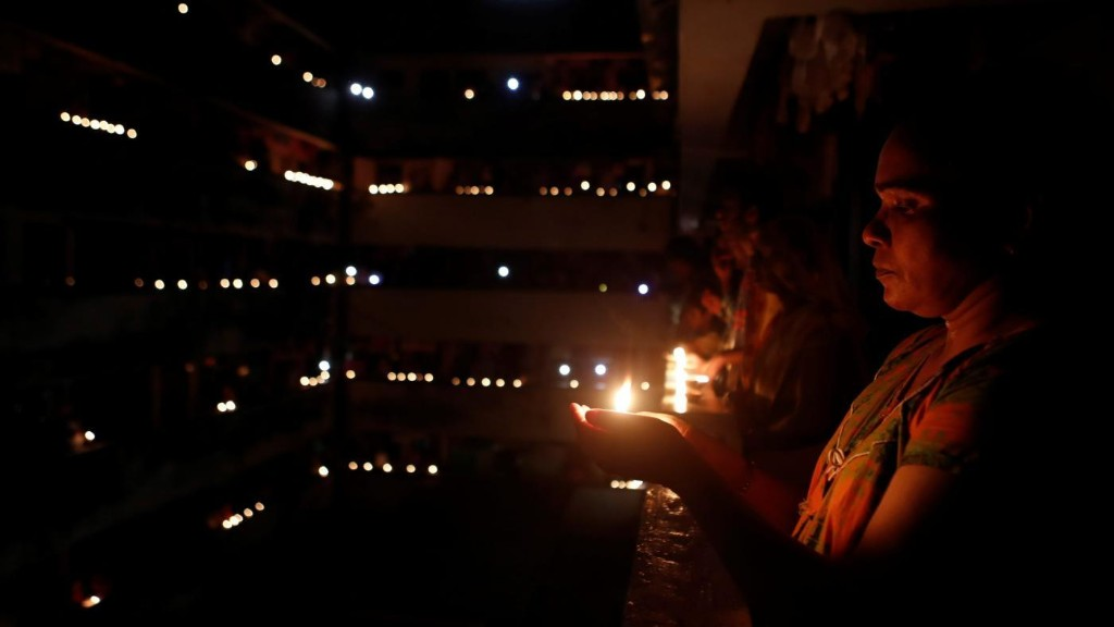 India joins Modi's candlelight vigil with lamps, crackers—and a breached lockdown