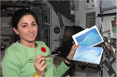 What it's like to paint in space—according to a NASA astronaut