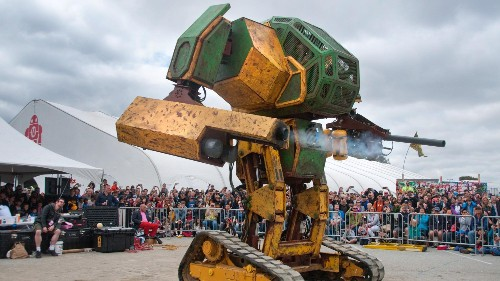 The guys behind MegaBots say their giant fighting robot will pioneer an entirely new, worldwide sport