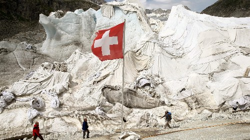 Swiss residents are wrapping glaciers in blankets to keep them from melting