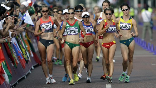 Olympic race walkers can walk a mile faster than you can run it