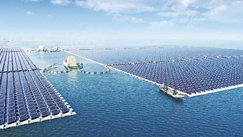 The world's largest floating solar farm is producing energy atop a former coal mine