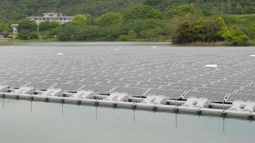 Japan is building huge solar power plants that float on water