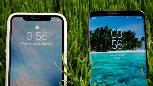 The iPhone X and the Samsung Galaxy S9 are pretty much the same phone