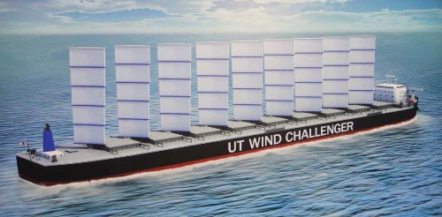 In the future, huge ships will be wind-powered like sailboats