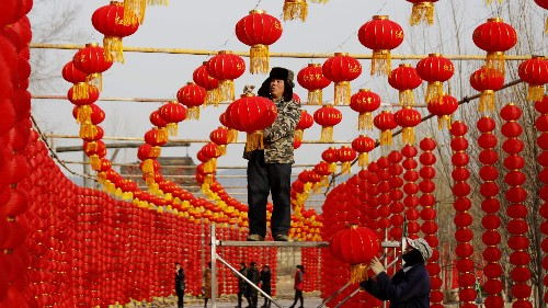 Chinese prisoners—wearing tracking devices—are granted temporary freedom for Lunar New Year