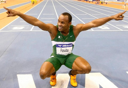 Three different Nigerians hold the 100m sprint records for Africa, Asia and Europe