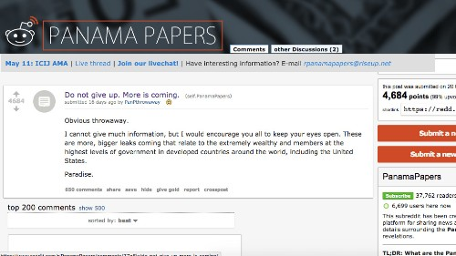 Someone on Reddit hinted at the Paradise Papers 16 days before they were released