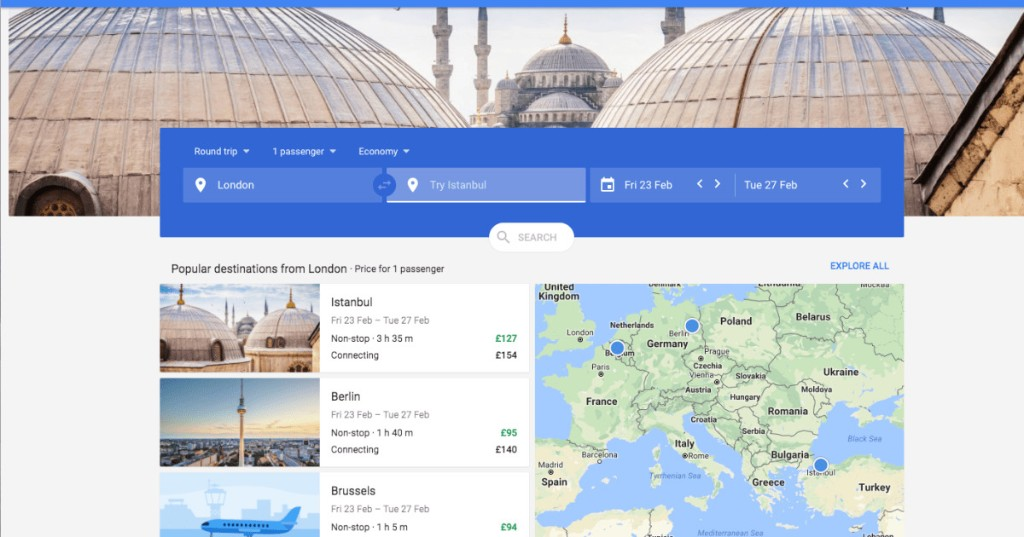 Google is continuing its quest to be a one stop shop for online travel