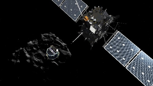 See the first shots from the Rosetta mission's successful comet landing