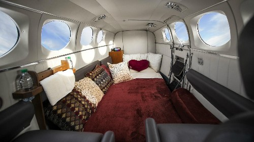 """""""This isn't a brothel in the sky:"""" Business is booming for private flights catering to couples trying to join the mile-high club"""