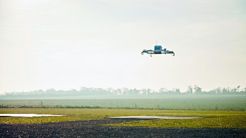 The first Amazon PrimeAir drone delivery landed 13 minutes after the order was placed