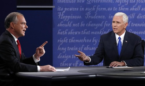 Tim Kaine and Mike Pence both used the Bible to say opposite things