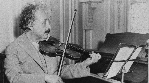 Einstein's musical talent helped propel his scientific breakthroughs