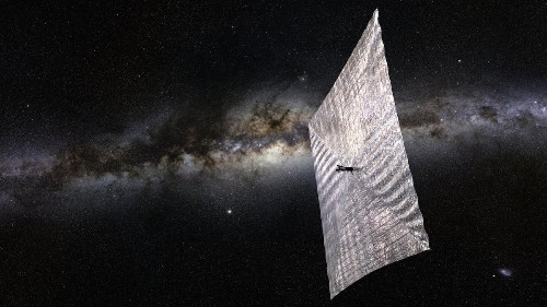 We now have a spacecraft that is propelled by sunlight alone