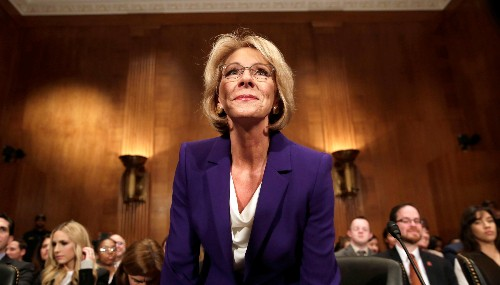 Almost everyone in Trump's cabinet has experience with public education—except the education secretary
