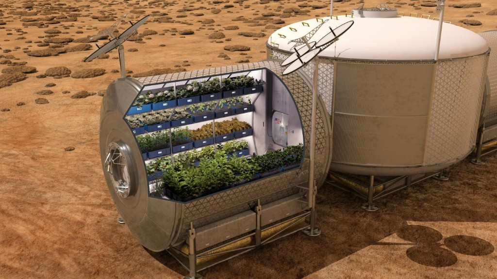 How do astronauts grow plants in space?