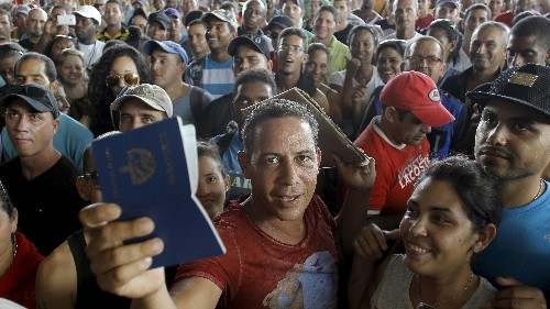 Cubans are rushing to the US border before an immigration loophole is closed