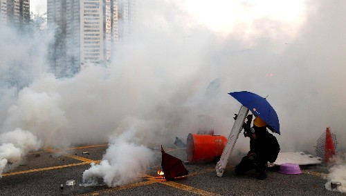 Police have fired a record amount of tear gas in Hong Kong