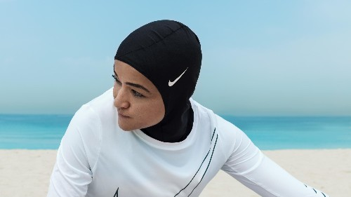 The Nike Pro Hijab is being released as the brand's first hijab for female Muslim athletes