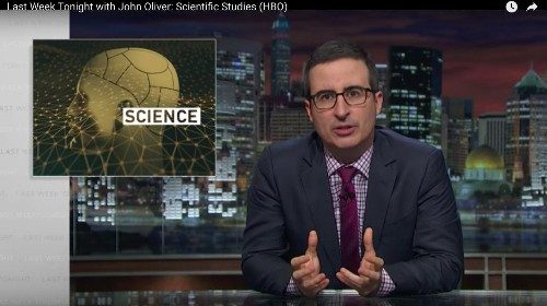 """""""Everything causes cancer"""": Watch John Oliver debunk terrible science reporting"""